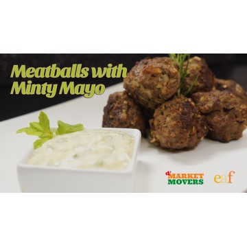 Meatballs with Minty Mayo